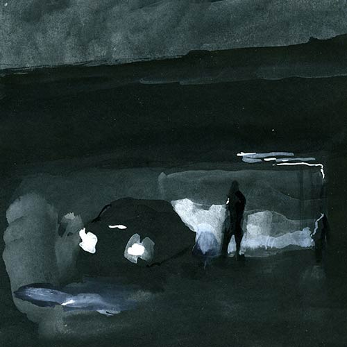 Coutts - Night Drawing 48, gouache