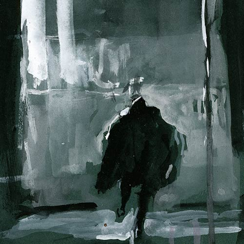 Coutts - Night Drawing 58, gouache