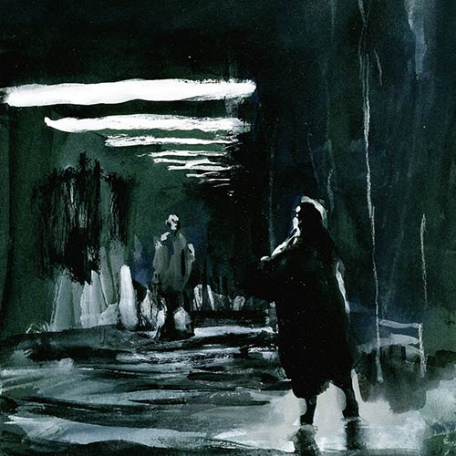 Coutts - Night Drawing 60, gouache