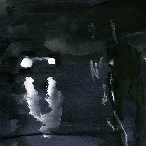Coutts - Night Drawing, gouache